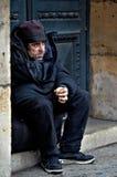 法国无家可归者 免版税库存图片
