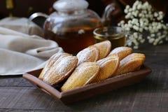 法国曲奇饼马德琳 免版税库存照片