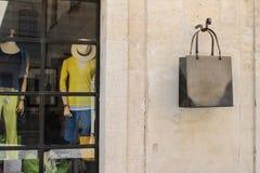 法国服装店 库存图片