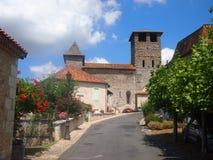 法国村庄在多尔多涅省 库存照片