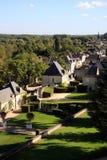 法国村庄在Loire Valley (Rigny-Ussé) 库存图片