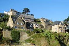 法国村庄美丽的景色 免版税库存图片