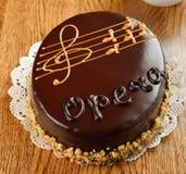 法国歌剧蛋糕 免版税库存图片