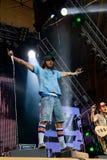 法国歌手Marc Kemar Maggiori (Pleymo) 在Tyshino体育场的音乐节Kryliya 2007年7月22日在莫斯科,俄罗斯 库存照片