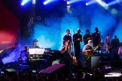法国歌手Zaz音乐会爵士节的 库存图片
