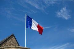 法国沙文主义情绪在风 免版税库存照片