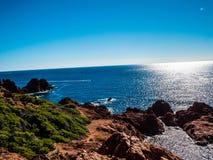 法国海岸的粗砺的原野 免版税图库摄影