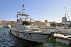 法国海岸警备队的船 免版税库存照片