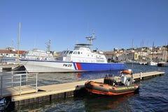 法国海岸警备队的船 免版税库存图片