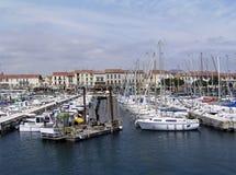 法国海滨视图 库存照片