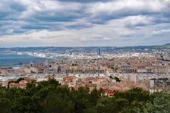 法国海滨俯视 免版税库存图片