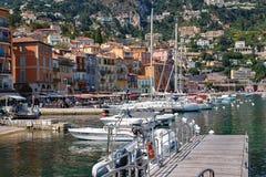法国海滨小游艇船坞 库存照片