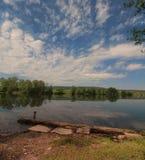 法国湖 库存照片