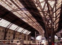 法国火车站大厦在巴塞罗那,西班牙 库存照片