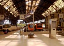 法国火车站大厦在巴塞罗那,西班牙 免版税库存照片