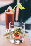 法国点心用西红柿汁 免版税库存照片