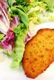 法国烹调法式蓝带酒店管理学院,鸡肉菜肴 免版税库存照片