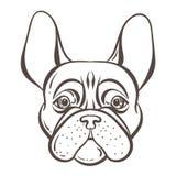 法国牛头犬传染媒介tatoo样式例证 向量例证