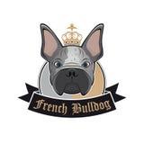 法国牛头犬标志 免版税库存照片