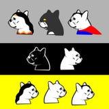 法国牛头犬英雄 向量例证