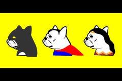 法国牛头犬英雄 免版税图库摄影