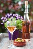 法国玫瑰酒红色 免版税库存图片