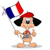 从法国的动画片狗 免版税库存图片