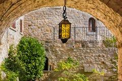 法国的南部的美丽如画的中世纪Eze村庄 库存照片