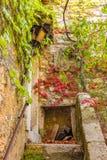 法国的南部的美丽如画的中世纪Eze村庄 库存图片