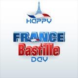 法国的国庆节,巴士底日 免版税库存照片