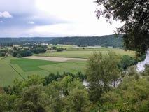 法国的多尔多涅省河 免版税库存照片