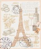 法国的套 免版税库存图片