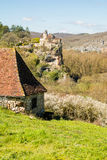 法国的平安的乡下村庄 库存照片