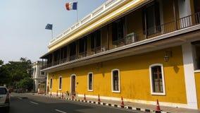 法国的总领事馆在本地治里Consulat général de法国à Pondichéry 库存照片