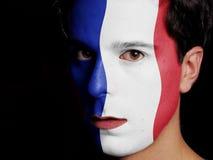 法国的旗子 库存照片