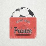 法国的橄榄球冠军 足球时间 详细的元素 老减速火箭的葡萄酒难看的东西 抓,损坏,肮脏 库存图片