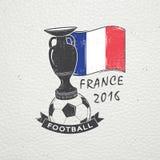 法国的橄榄球冠军 足球时间 详细的元素 老减速火箭的葡萄酒难看的东西 抓,损坏,肮脏 库存照片