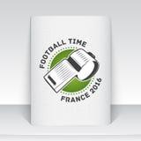 法国的橄榄球冠军 足球时间 详细的元素 库存例证