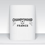 法国的橄榄球冠军 足球时间 详细的元素 皇族释放例证