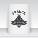 法国的橄榄球冠军 足球时间 详细的元素 向量例证