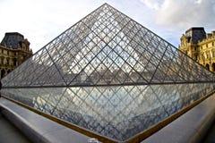 法国的罗浮宫- museu做天窗França 库存照片
