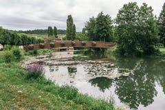 法国省的湖 免版税库存图片
