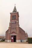 法国砖教会 库存照片