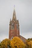法国砖教会 图库摄影
