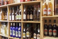 法国科涅克白兰地和酒 免版税库存图片