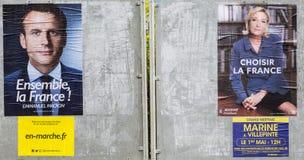 法国竞选海报-第二个回合 库存照片