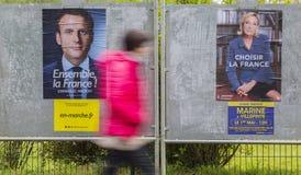 法国竞选-第二个回合 图库摄影