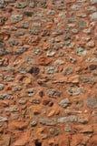 法国红色rousillon墙壁 免版税库存图片