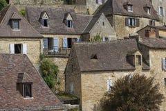 法国美丽如画的村庄 免版税库存照片