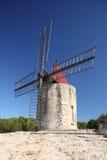 法国老风车 免版税图库摄影